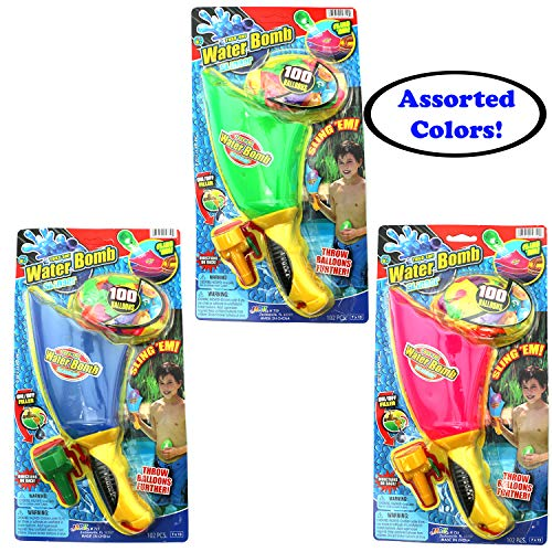 Ultimate 10 Piece Water Balloon Set 855 Water Balloons, Slinger, Carry Tote, Refill Gun, Water Balloon laucher Slingshot Water Balloon Party with 2 GosuToys Stickers by Gosu Toys (Image #1)