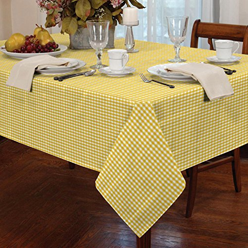 Gingham Check Tablecloth Dining Room or Kitchen Table Lin...