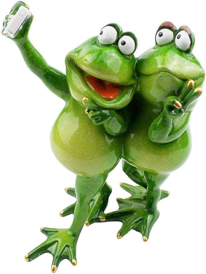 Caseyaria Lindas Figuras de Ranas fotografiadas en Verde para la ...