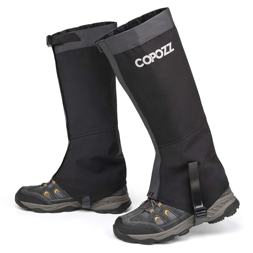 COPOZZ Leg Gaiters Waterproof Snow Boot Shoe Gaiters Leg Cover for Men and Women, Perfect for Outdoor Hunting Hiking Backpacking Skiing Trimming Grass