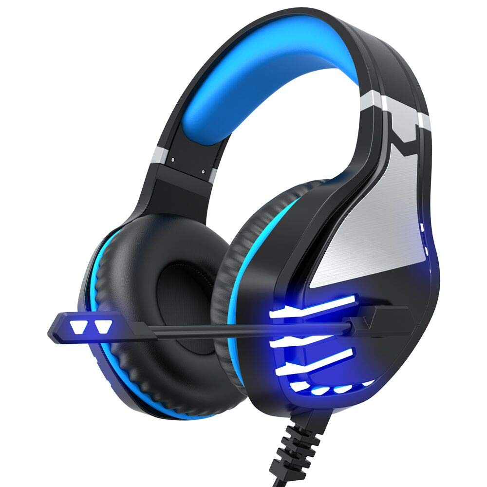 VersionTECH. Stereo Gaming Headset PS4 Xbox One Headset, Wired PC Gamer Headphones with Noise Canceling Mic, LED Lights…