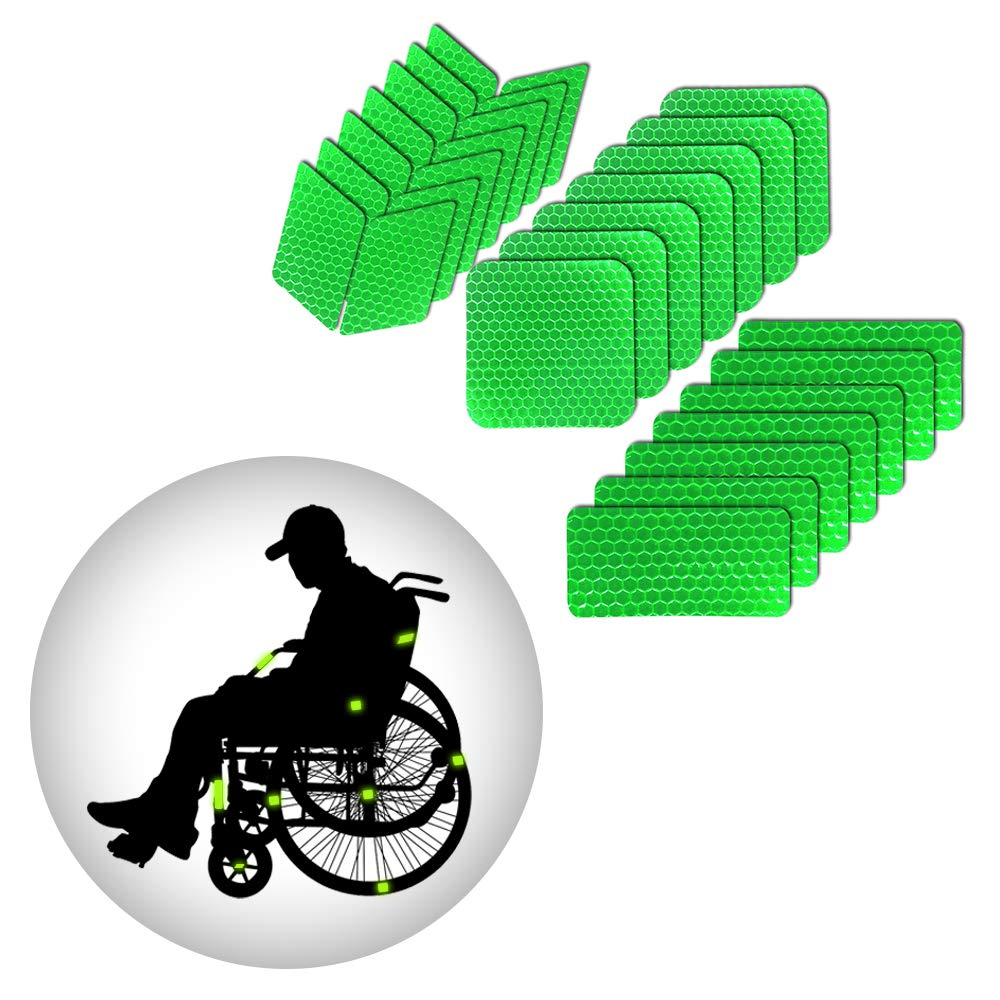 Muchkey Self-Adhesive Reflective tape Stickers Waterproof High Visibility Safety Warning Tape Stickers for Roller Skates bicycle motorcycle baby strollers DIY home decoration White MyHuang