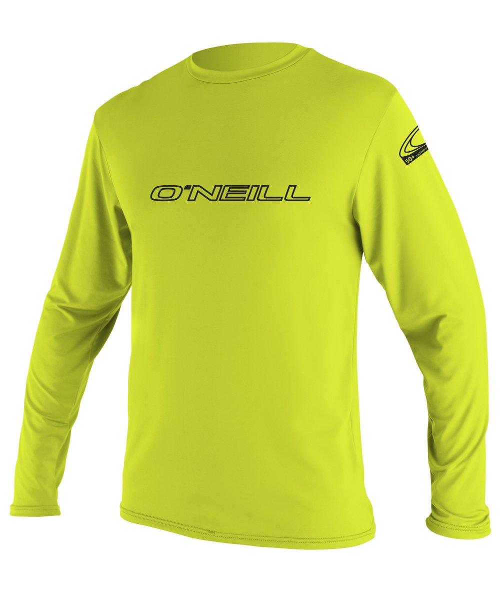O'Neill Youth Basic Skins UPF 50+ Long Sleeve Sun Shirt, Lime, 10 by O'Neill Wetsuits