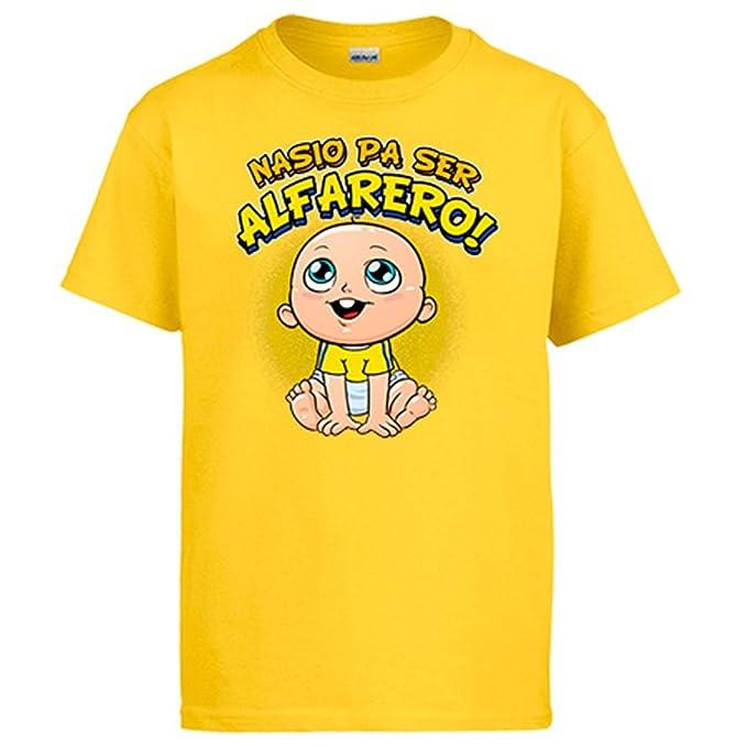 Diver Camisetas Camiseta Nacido para ser Alfarero Alcorcón fútbol: Amazon.es: Ropa y accesorios
