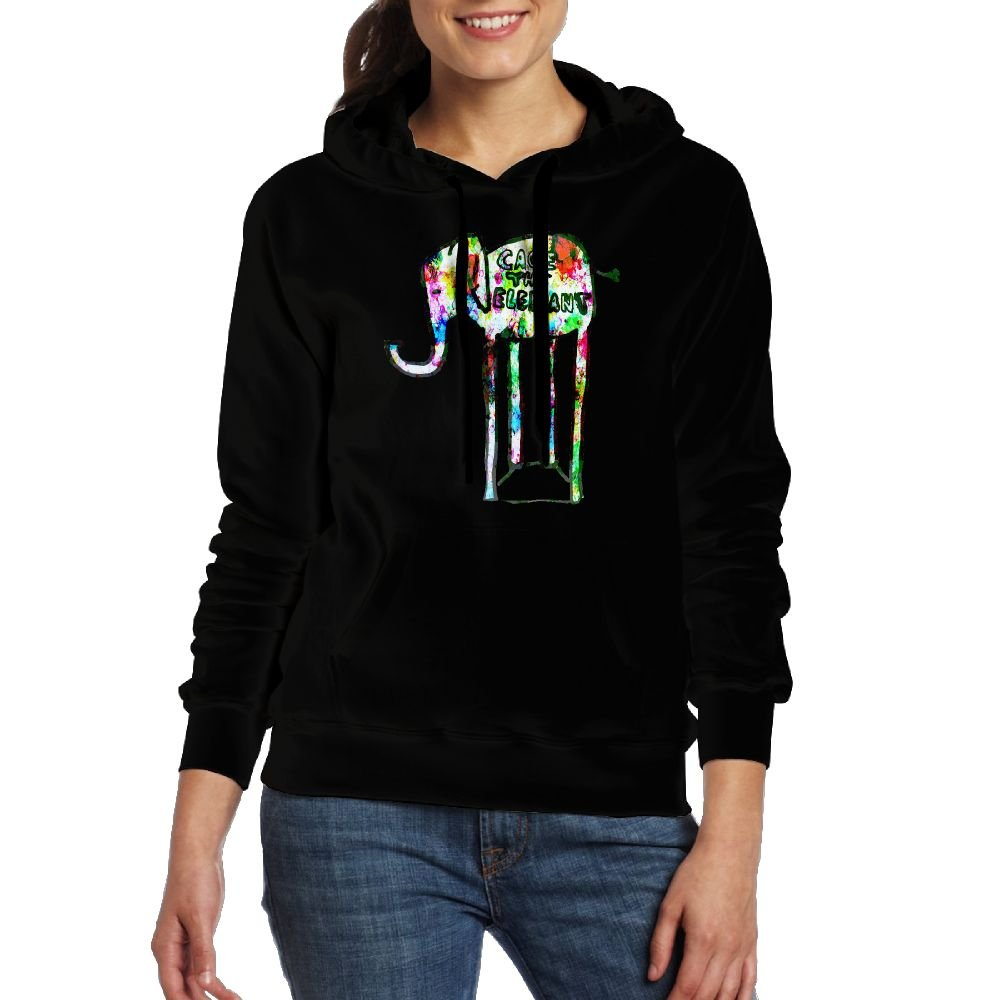 Gilles Womens Adult Cage The Elephant Hoodies Sweatshirt with Pocket Sweater Black