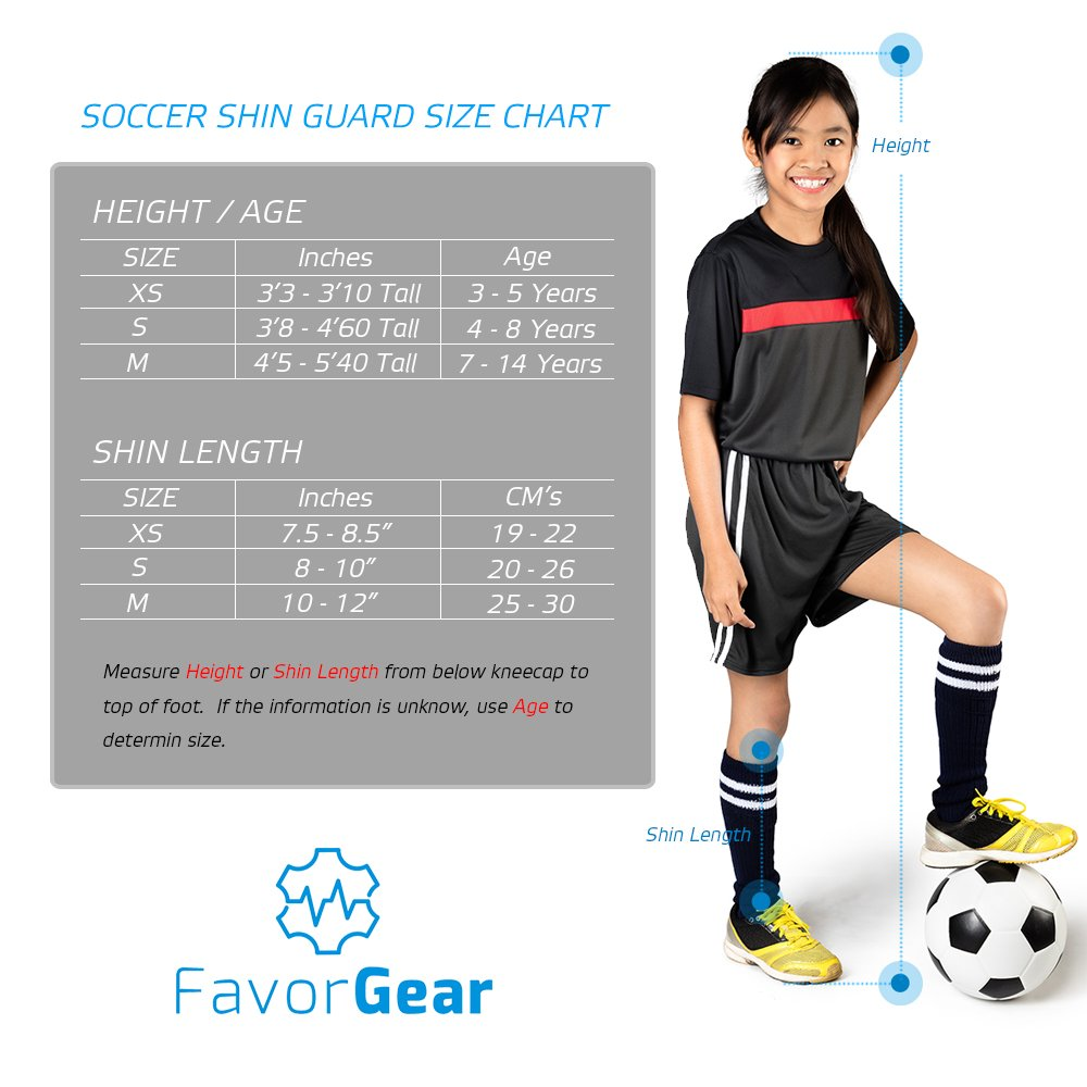 Amazon.com   FAVORGEAR Soccer Shin Guards -Youth Sizes Best Kids Soccer  Shin Guards with Separable Ankle Protection - Stability and Leightweight  Youth ... a2acd074e9