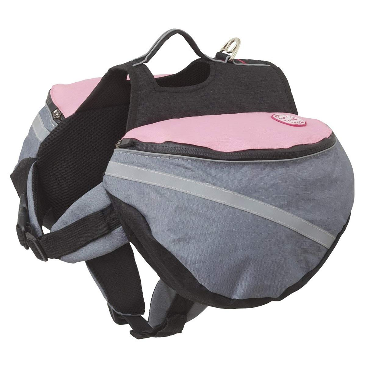 Doggles Dog Extreme Backpack, Gray/Pink, Small by Doggles