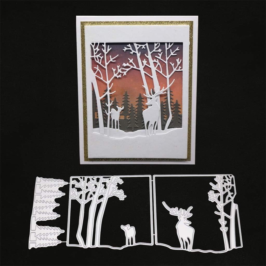 DIY Deer Forest Carbon Steel Cutting Die Stencil Mold Scrapbooking Card Gift New