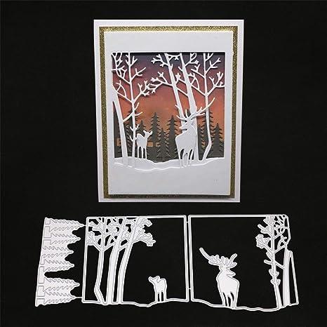 Deer Dies Metal Cutting Scrapbook Crafts Background Card Making Stencil Die Cut