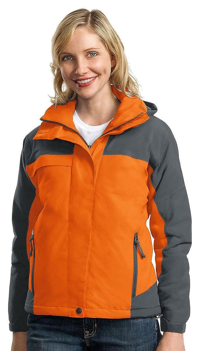Port Authority Womens Waterproof Nootka Jacket/_Cadmium Orange//Graphite/_3XL