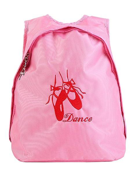 besbomig Bolsa de Danza Infantil Bordada niños pequeños Mochila con Diseño de Zapatos de Ballet Para Baile Y Gimnasia