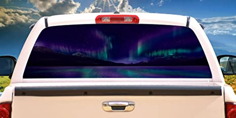 Truck Stickers For Back Window >> Signmission Aurorarear Window Graphic Back Truck Decal Suv View Thru Vinyl Car