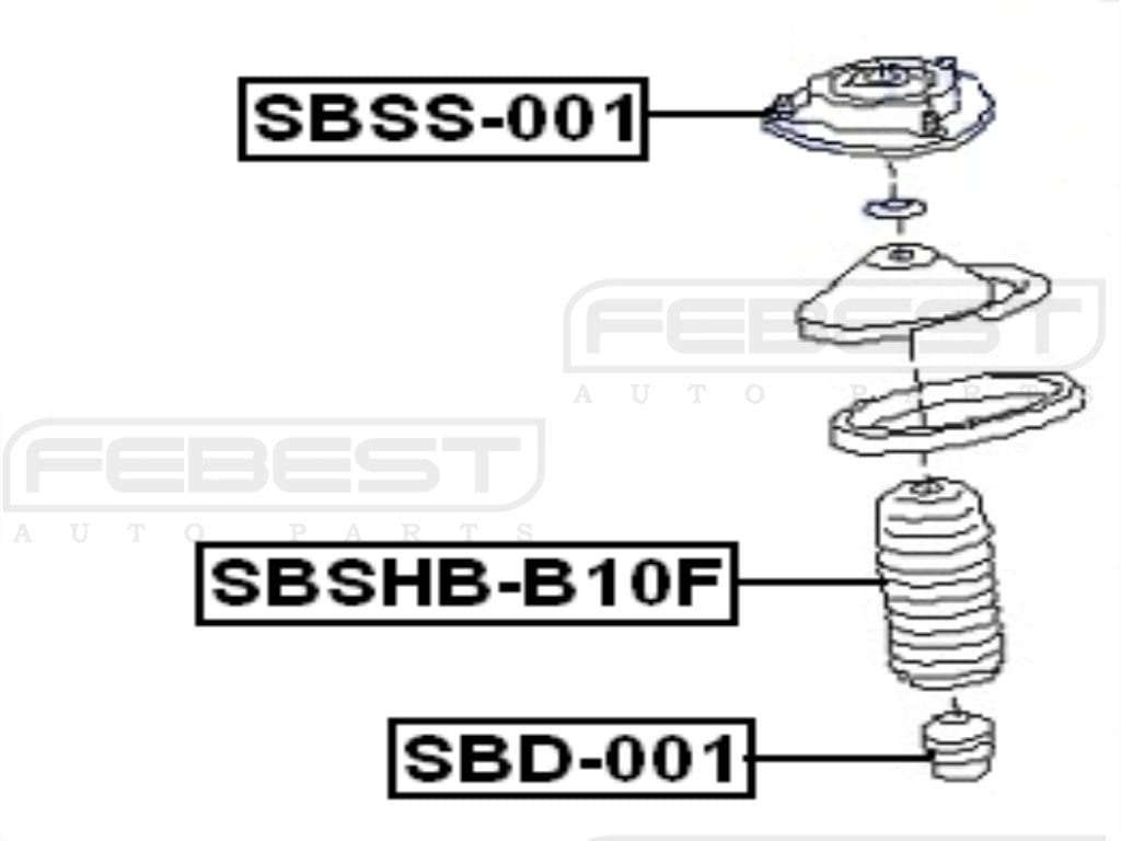 Febest 20320Aa100 Front Shock Absorber Support For Subaru