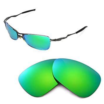 dd093068789 Walleva Replacement Lenses for Oakley Crosshair 1.0 (2005-2006 version)  Sunglasses - Multiple Options (Emerald Mirror Coated - Polarized)