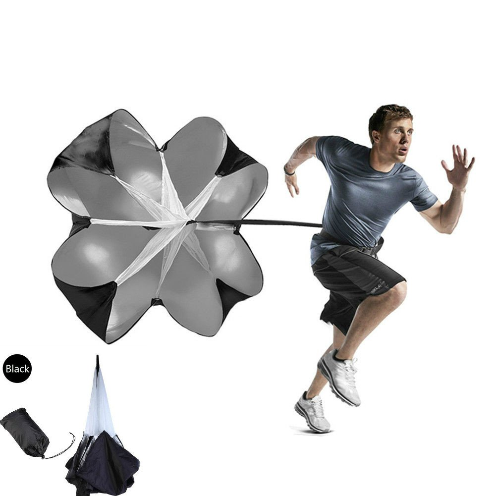 Enshey Speed Training Resistance Parachute - Training Parachute – Speed Chutes – with Adjustable Waist For Football Or Soccer with Free Carry Bag