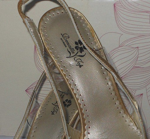 Gold Woman Court Satin Leather Oceanofshoes 1Hp4Wf4c