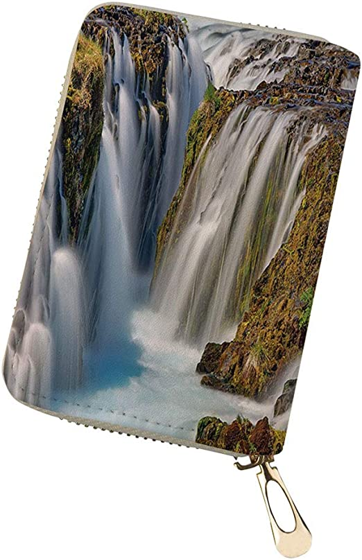 Credit Card Organizer Wallet forest waterfall an Holder 18 Card Slots