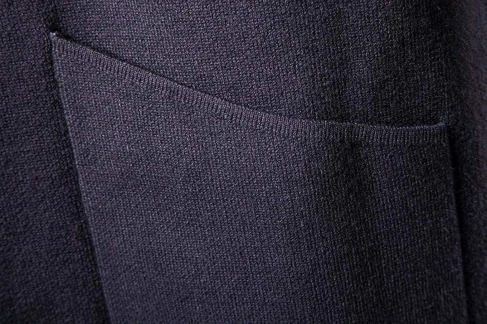 SCHSA Uomini Pullover A Maglia Cardigan con Cappuccio Giacca Lunga Maglione Maglia Basic Il Manicotto Lungo Il Comfort dello Spessore di Cotone Lavorato A Maglia Light Grey
