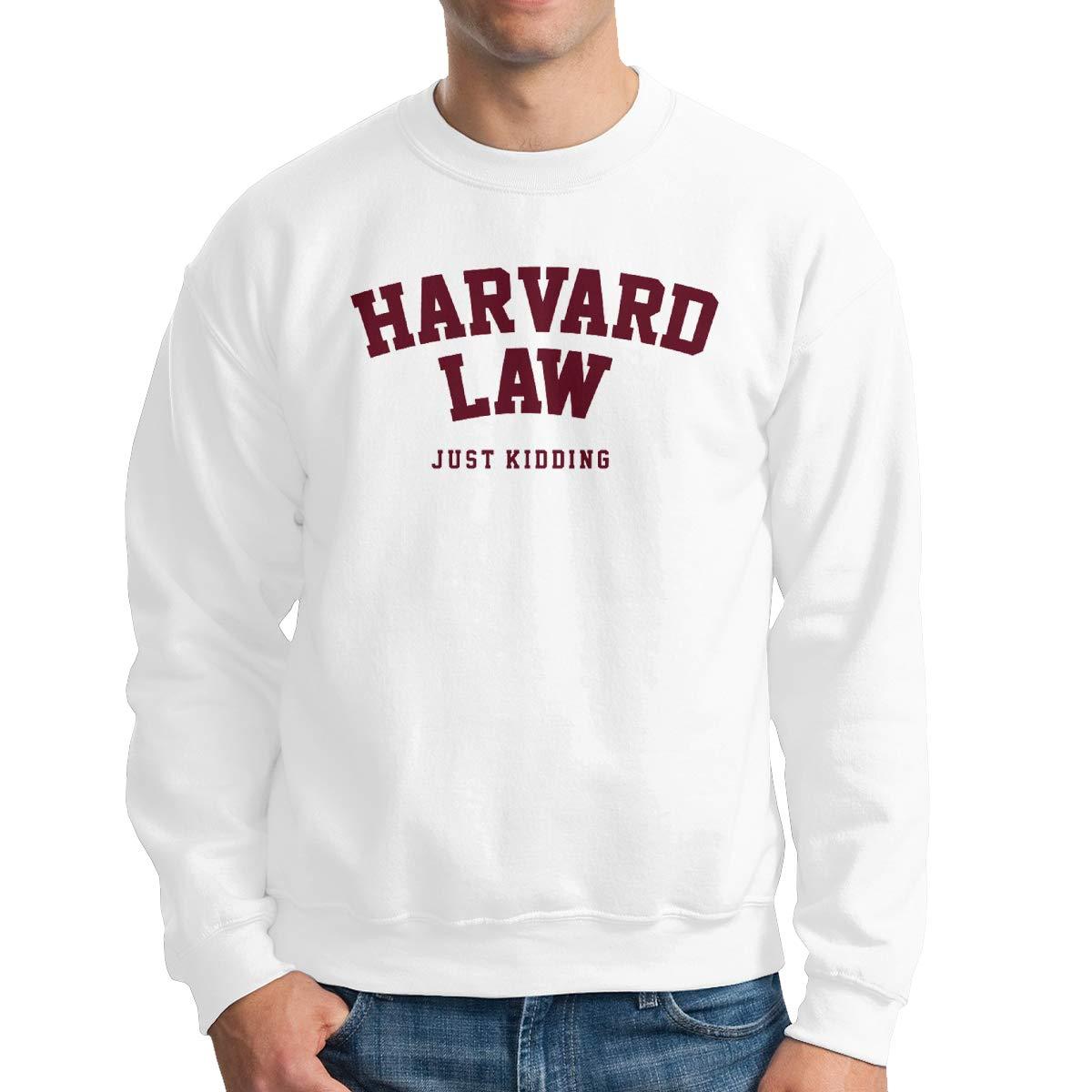 JJHH Shop Harvard Law Just Kidding Mens Boys Crewneck Basketball Team Unisex Pullover Sweatshirt Crew Neck Hoodie