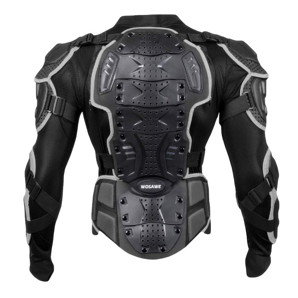 Rambling Fashion Mens Motorcycle Full Body Armor Jacket Motocross Racing Spine Chest Protecto Gear