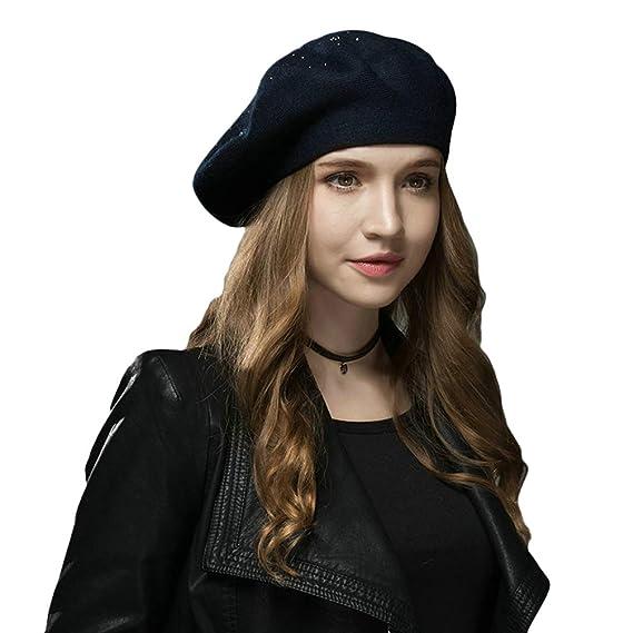 Baijiaye Boina Francés de Mujer Invierno Vasco Boinas de Lana Gorro Beret  Beanie Cálido Sombrero de Pintor Elegante  Amazon.es  Ropa y accesorios c66bdfe58ca