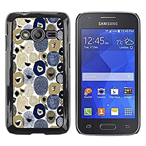 Be Good Phone Accessory // Dura Cáscara cubierta Protectora Caso Carcasa Funda de Protección para Samsung Galaxy Ace 4 G313 SM-G313F // Stones Birds Seeds Art Blue White Brown