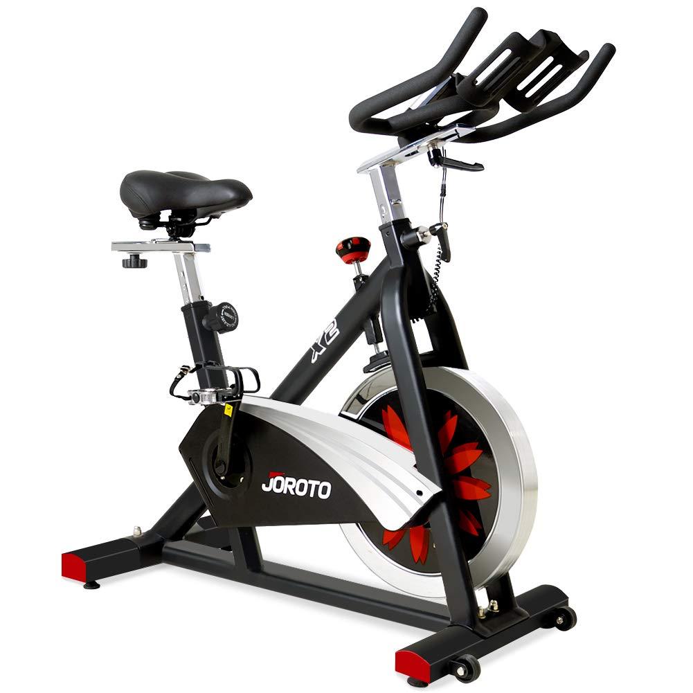 JOROTO Magnetic Indoor Cycling Bike - Belt Drive Exercise Bikes Stationary