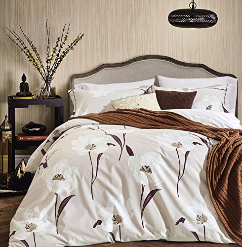 3-Piece-Fine-printed-100-COTTON-Chic-Duvet-Cover-Set-TWIN-FULL-QUEEN-KING-CAL-KING-size-Beddings