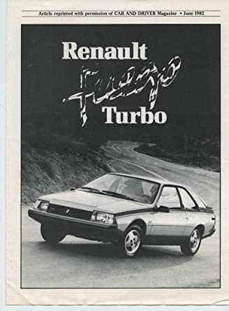 1982 Renault Fuego Turbo Roadtest Brochure