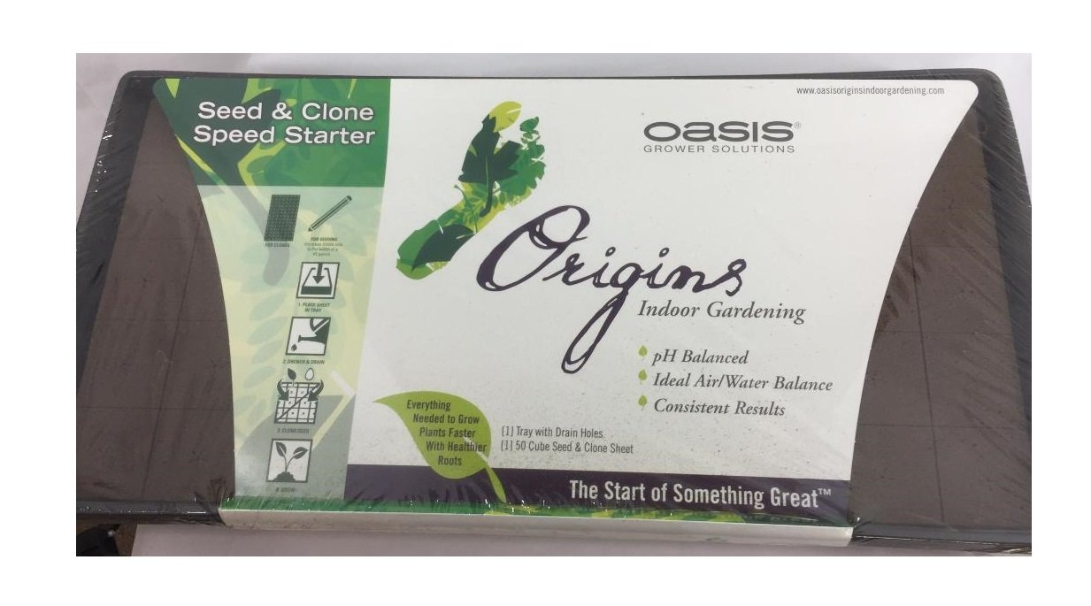 2pc Oasis Origins Root Cubes Seed & Clone 50 Cell W/1020 Tray W/Holes