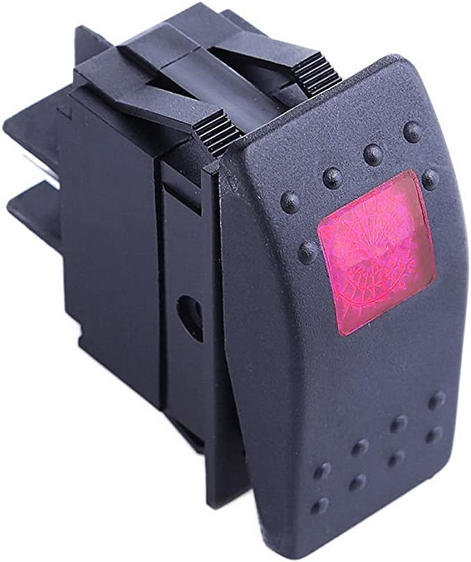 Qiorange Kfz Auto Offroad Kippschalter Druckschalter Schalter Wippschalter Wasserdicht 12v 20a Rot Led Licht 4pin An Aus Rot 1 Pcs Auto