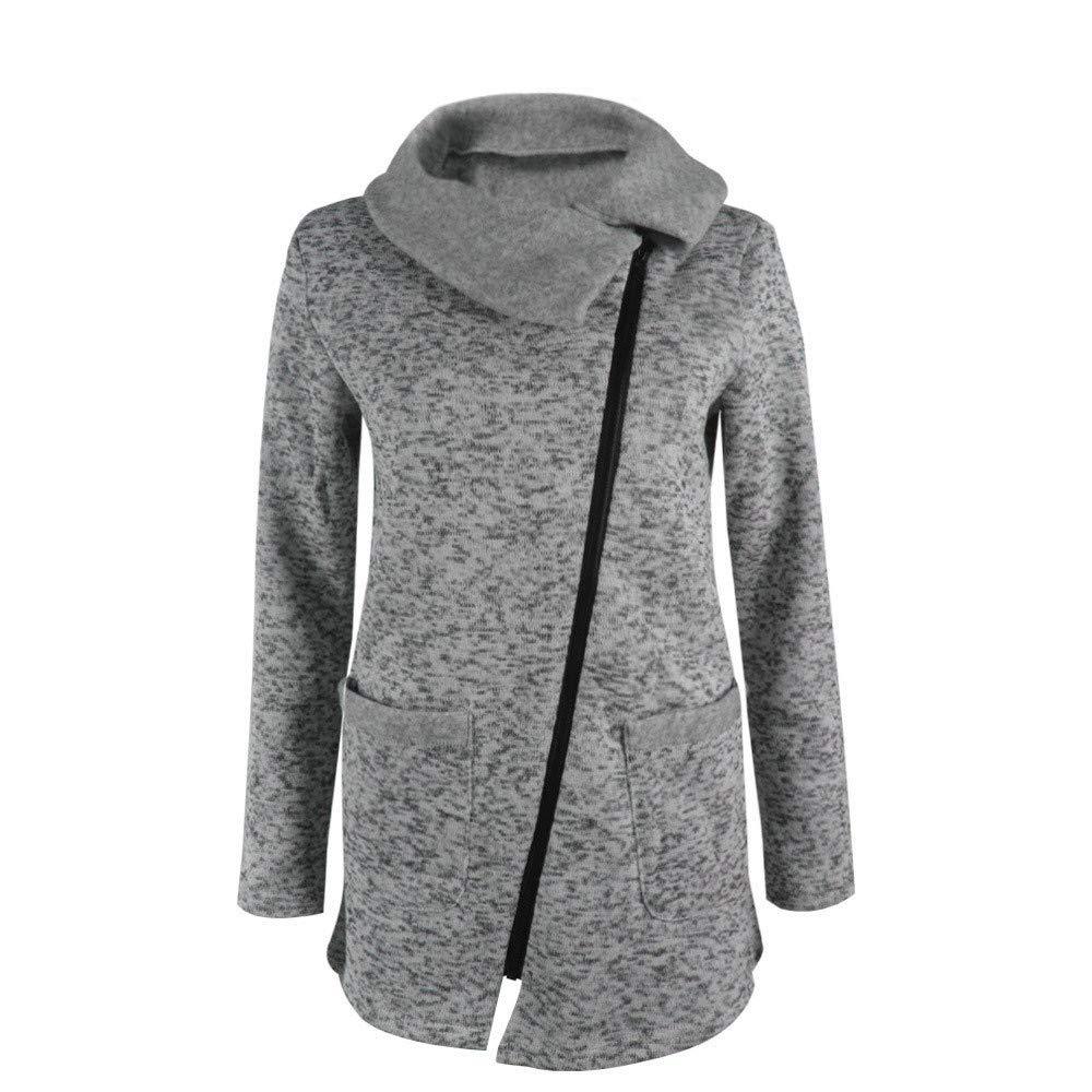 9ddf2b391310f TianWlio Damen Mäntel Frauen Lässige Jacke Mantel Lange Reißverschluss  Sweatshirt Outwear Tops  Amazon.de  Bekleidung