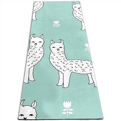 24acd73013bc8 Amazon.com   Lesi Yes Yoga Mat Eco Thick Premium PVC Alpaca Pattern ...