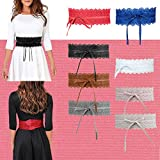 Womens Lace Waist Belt Soft Faux Leather Boho Band Corset Fashion Accessories for Dresses