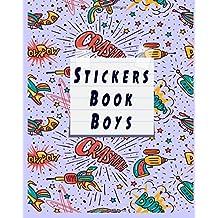 Stickers Book Boys: Blank Permanent Sticker Book