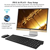 Wireless Keyboard Mouse Combo UPWADE 2.4GHz Ultra