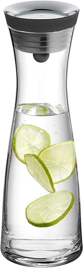 Oferta amazon: WMF Basic - Botella de agua de cristal, sistema Close Up, Sin accesorios, Negro, 1,0 litros