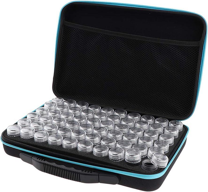 Sharplace 60 Rejillas 10ml Tarro Vacío Tubo de Polvo de Uñas Envase de Sombras de Ojos Injertos Estuche de Almacenamiento - Azul: Amazon.es: Belleza