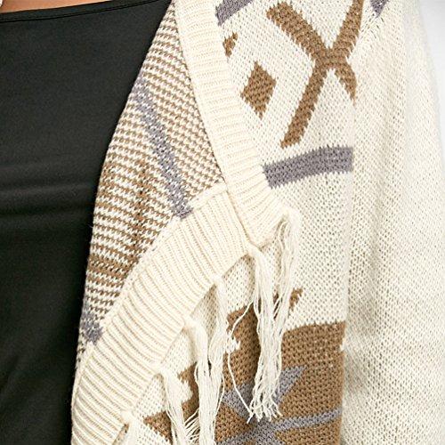 YiLianDa Asymetrique Tricot Cardigan En G Veste Femme Motif TTxF6rq