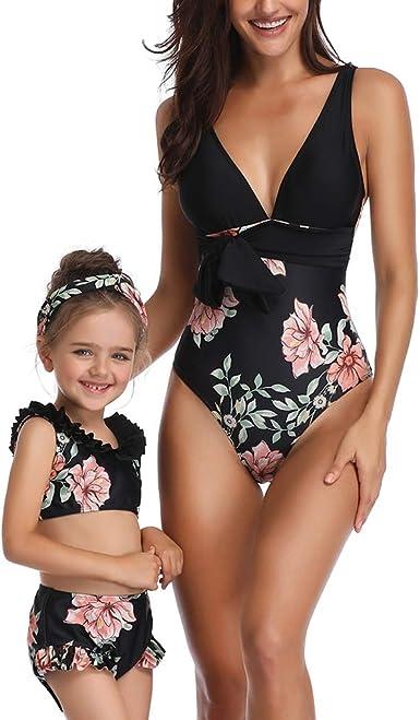 Mommy and Me One Piece Family Matching Bikini Swimwear