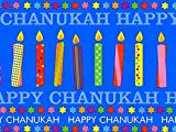Pack of 1, Chanukah Candles 24'' x 417' Half Ream Roll Gift Wrap for Holiday, Party, Kids' Birthday, Wedding & Special Occasion Packaging