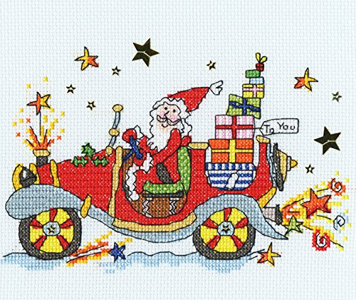 Bothy Threads Sew Dinky Christmas Car Cross Stitch Kit by Bothy Threads
