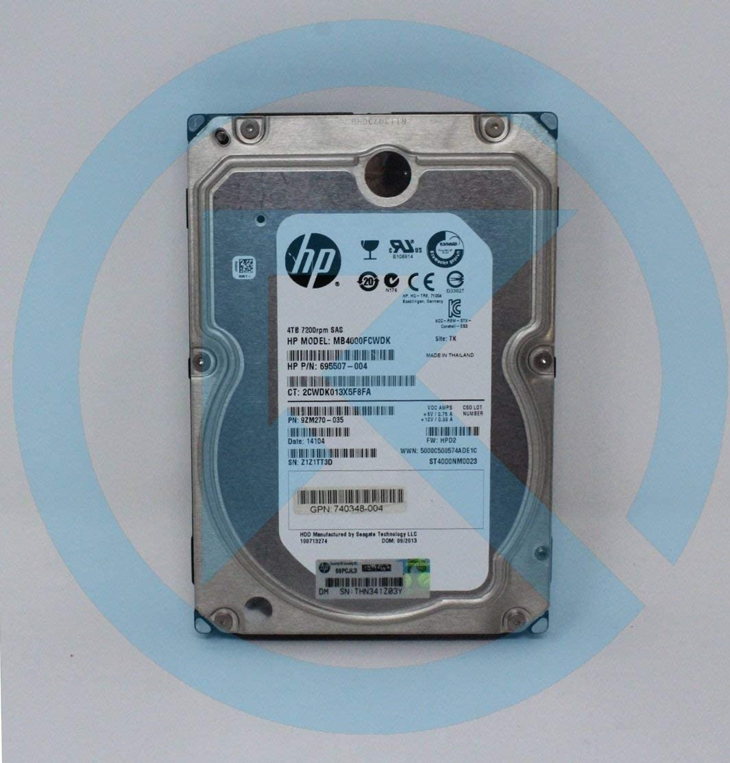 MB4000FCWDK HP 4-TB 6G 7.2K 3.5 SAS HDD (Renewed)