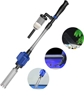 NICREW Automatic Gravel Cleaner, Electric Aquarium Cleaner, Sludge Extractor for Medium and Large Tanks