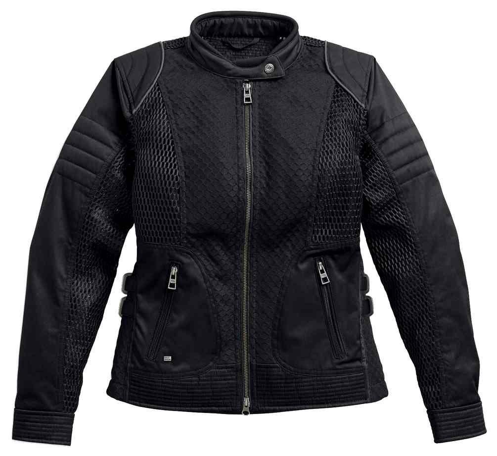 Harley-Davidson Women's Winged #1 Waterproof Mesh Jacket 97204-17VW (1W)