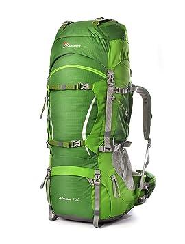 Mountaintop - Mochila de senderismo, color, Verde, 70 L