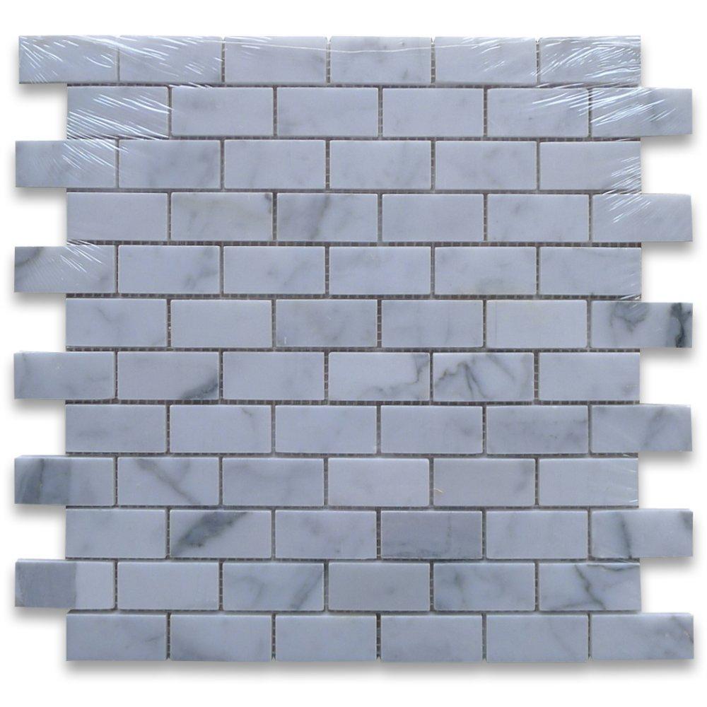Calacatta Gold Italian Calcutta Marble Subway Brick Mosaic Tile 1 x ...