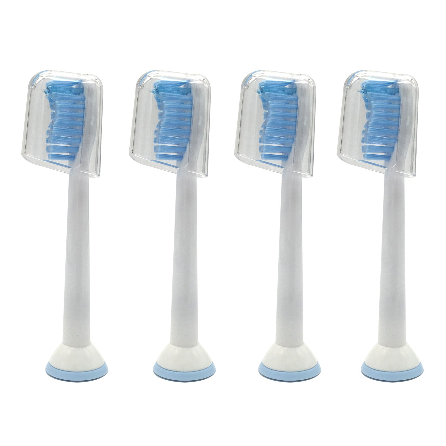 4 pcs (1x4) E-Cron® Toothbrush heads. Philips Sonicare Sensitive Replacement.Spare heads are Fully Compatible With The Following Philips Electric ToothBrush Models: DiamondClean, FlexCare, Platinum, Plus(+), HealthyWhite, 2 Series, EasyClean and PowerUp. P