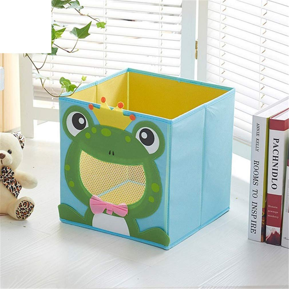 VADOLY 3D Cartoon Non-Woven Kid Toys Bins Animal Embroidery Foldable Clothes Storage Boxs for Underwear Organizer Rangement