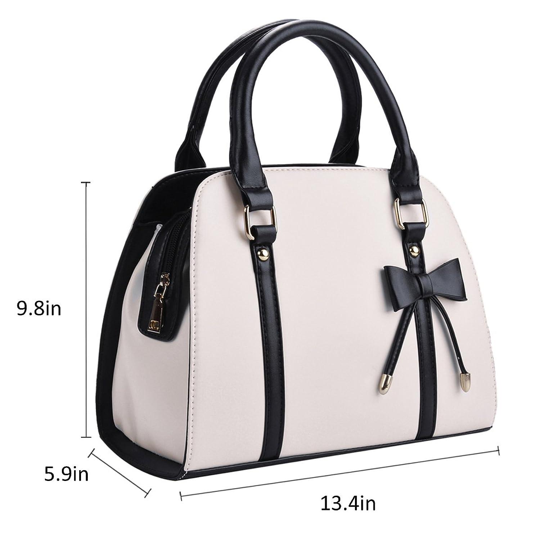 Amazon.com: Coofit Lady Handbag Little Bow Leisure Top-Handle Bags ...